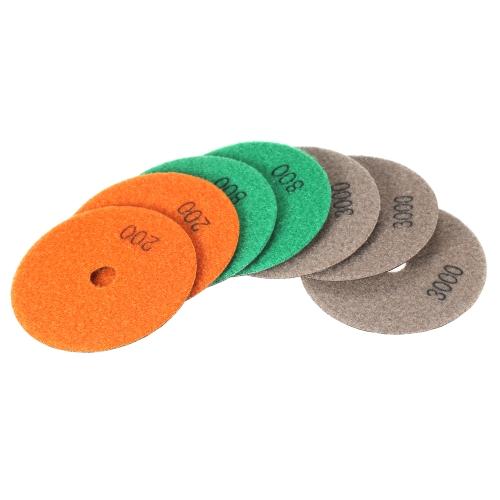 """7pcs / Set 4 """"disques de polissage à sec de diamant disque de meulage pour les carreaux de céramique de marbre de granit"""