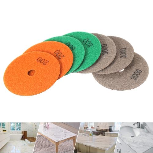 7pcs/Set 4 Diamond Dry Polishing Pads Grinding Disc for Granite Marble Stone Ceramic Tiles