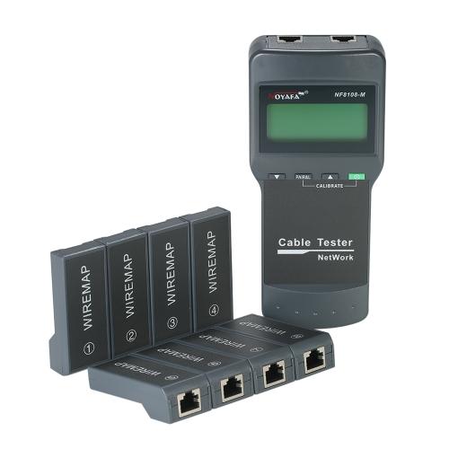 Wielofunkcyjny tester kabli sieciowych RJ45 z 8 adapterami zdalnymi