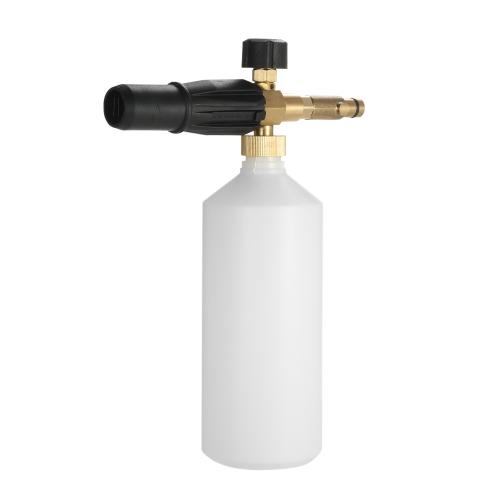 Iniettore regolabile della lancia della schiuma della neve della bottiglia della lancia 1L della schiuma