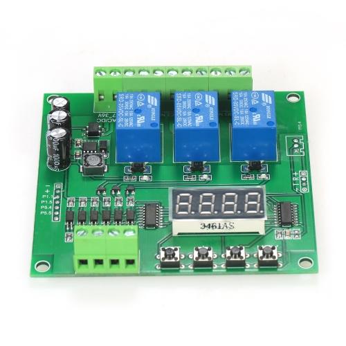 Программируемый 3-канальный светодиодный релейный модуль DC / AC7V ~ 36V Контроллер драйвера двигателя для Arduino Raspberry Pi