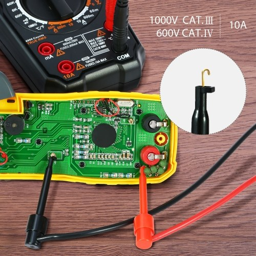 Meterk Digital Multimeter Leads with Alligato 21 in 1 Electronic Test Leads Kit
