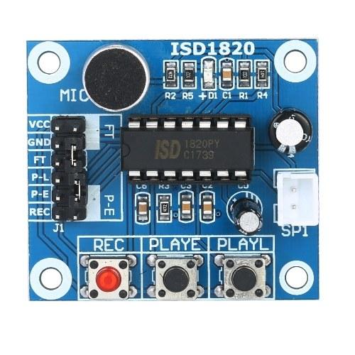 3pcs ISD1820 Modulo di registrazione vocale Modulo di riproduzione audio