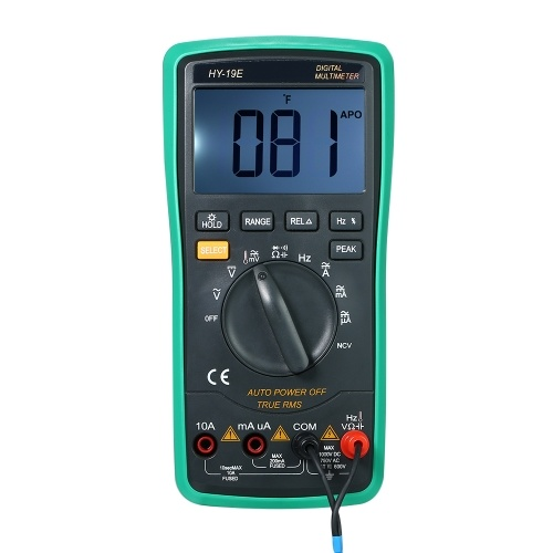 Multi-functional Handheld LCD Digital NCV True RMS Multimeter with Temperature Detector DC/AC Voltage Current Meter Capacitance Resistance Diode Tester