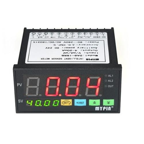 Misuratore digitale multifunzione con sensore a LED con uscita a relè a 2 relè e ingresso 0 ~ 10 V / 4 ~ 20 mA / 0 ~ 75 mV