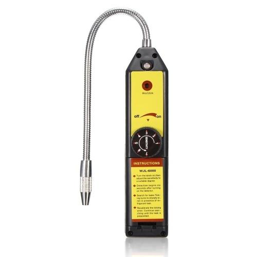 Rilevatore di fughe di refrigerante alogeno per Home Portable R134a R410a R22a HFC CFC Gas Gas HVAC Rilevazione di perdite del tester Strumento di controllo Nero