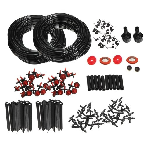 46m Micro Drip Irrigation Watering Automatic System Kit for Plant Garden Greenhouse