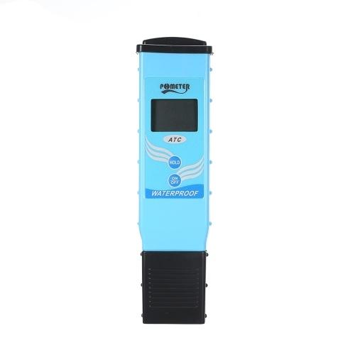 自動温度補償付きポータブルデジタルLCD pHメーター防水高精度pHテスター水質テスター検出器