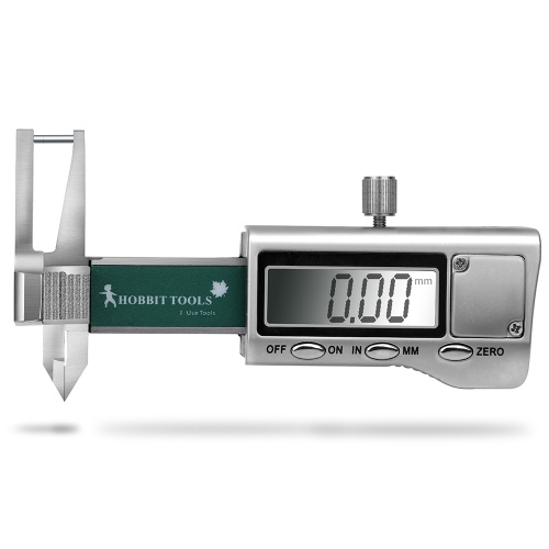 High Accuracy LCD Digital Display Minitype Caliper Diamond Jewelry Thickness Gauge with Range of 25mm and Accuracy of 0.01mm