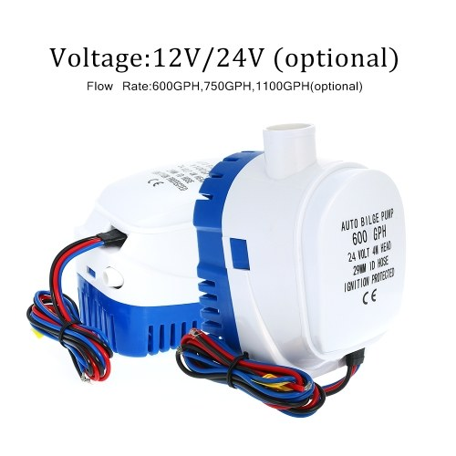 24V 700GPH Automatic Submersible Boat Bilge Water Pump 12v 1100gph Auto Bilge Pump with Float Switch