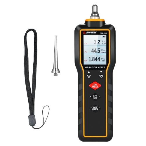 SNDWAY Portable Vibration Meter Vibration Measure Tool Vibrometer Handheld Vibration Meter Digital Vibration Meter Vibration Measure Tester Gauge