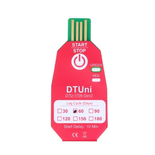 Waterproof PDF Disposable USB 2.0 Temperature Data Logger 60 Days Cold Chain Thermometer Recorder for Biological/Medicine Chemical Industry