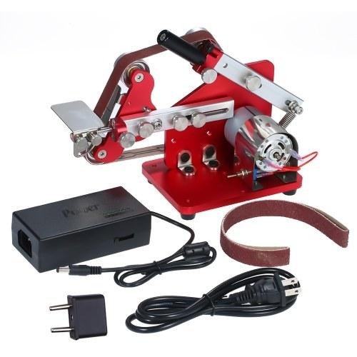 Mini Belt Sander Machine Multifunction Bench Sander Belt Machine 60W Electronic Micro Sander Polisher Grinder Portable DIY M-775 Table Polishing Sanding Machine