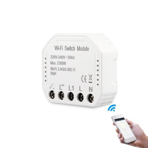 Interrupteur de lumière intelligent Wifi Module de disjoncteur bricolage APP Télécommande fonctionne avec Alexa Google Home