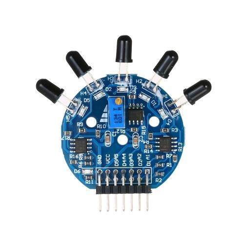 Módulo de sensor de llama Módulo de sensor de fuego de 5 canales Módulo de detección de luz de extinción de incendios de 14 pines