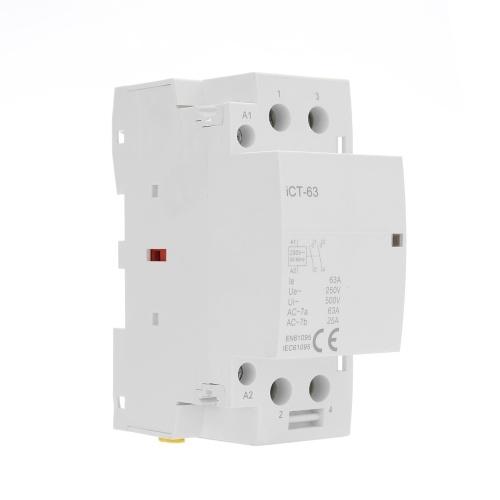 Home AC-Steckverbinder 220V 50 / 60Hz Pole Spule AC Modulares Schütz Hohe Empfindlichkeit Starke Leitfähigkeit ICT