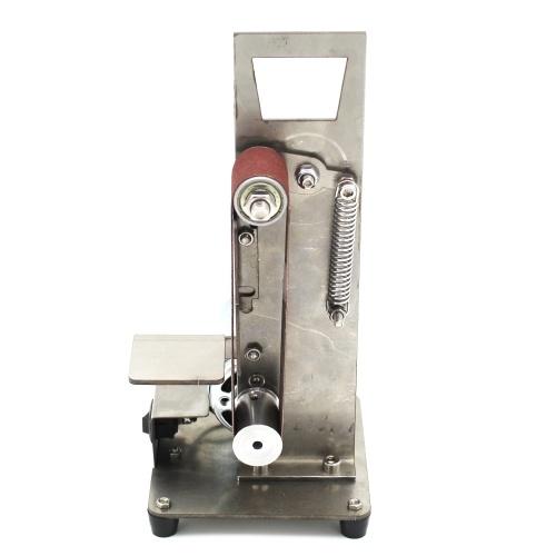 Вертикальный ленточный шлифовальный станок Мини шлифовальный шлифовальный станок Мини шлифовальный станок шлифовальный станок Шлифовальный станок для мелкого шлифования Маленькая машина для полировки и полировки DIY фото