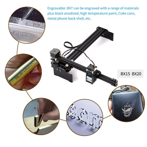 15W Laser Engraving Machine High Speed Mini Desktop Laser Engraver Printer Portable Household Art Craft DIY Laser Engraving Cutter for Wood Plastic Bamboo Rubber Leather EU Plug