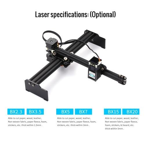 15W Laser Engraving Machine High Speed Mini Desktop Laser Engraver Printer Portable Household Art Craft DIY Laser Engraving Cutter for Wood Plastic Bamboo Rubber Leather US Plug