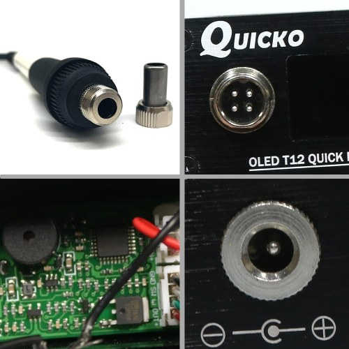 QUICKO Mini T12-942 Soldering Station Kit OLED DIY Solder Electric Tools Welding Iron Tips Temperature Controller with K-Tips and Handle