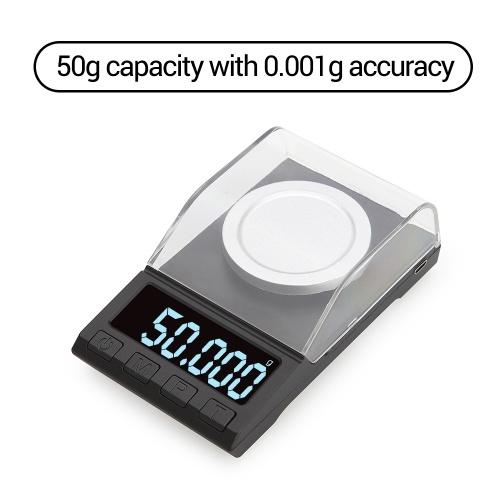Портативные цифровые весы золотые ювелирные весы порошок порошок мини карманные электронные весы профессиональные цифровые весы миллиграмм высокая точность 50 г * 0,001 г DH-8068 фото