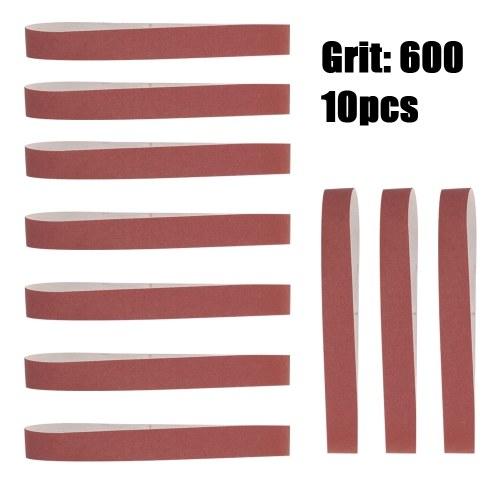 10pcs 580 * 30mm Cinturones de lijado 60-600 Reemplazo de pulido y pulido de grano para amoladora angular
