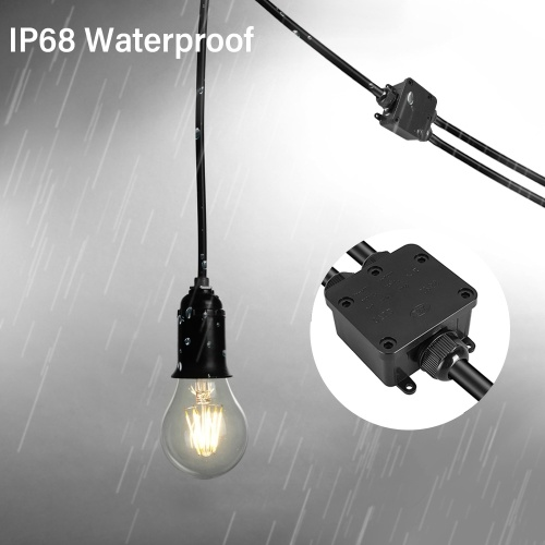Waterproof Outdoor External Electrical Junction Box Underground Cable Line Wires Power Cord Connector