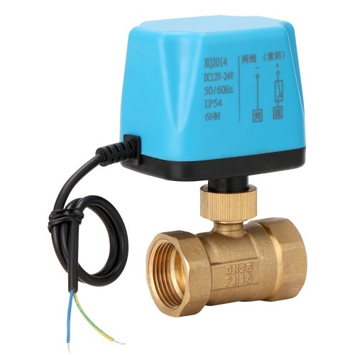 12-24V Universal Waterproof 2 Way 2-Wire Ball Electric Motorized Brass Valve with Actuator