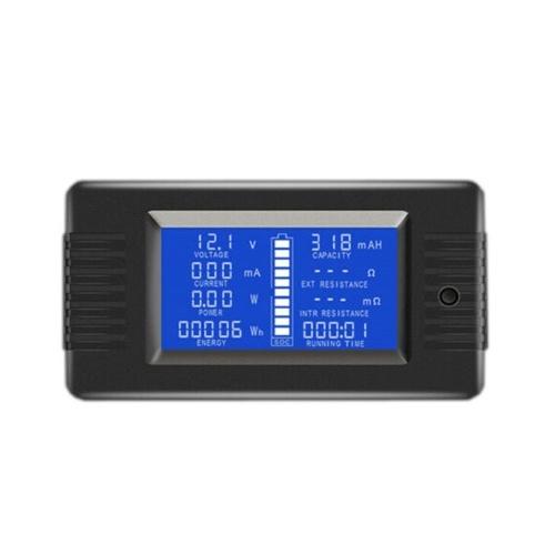 LCD Display Digital Current Voltage Solar Po-wer Meter Multimeter Ammeter Voltmeter Batt-ery Monitor Meter