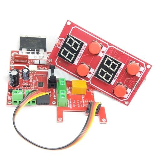 NY-D04 40A Двойной дисплей Машина точечной сварки Панель управления контроллера трансформатора Регулировка тока времени