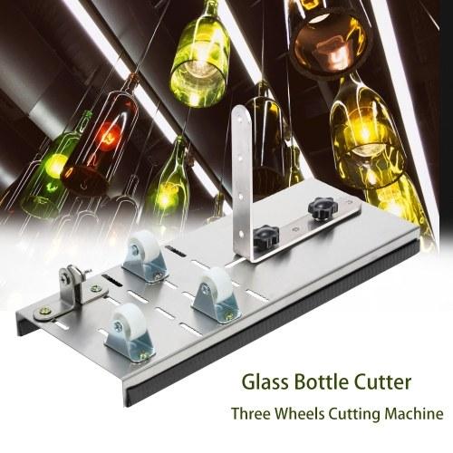 3つの車輪が付いているステンレス鋼のガラスビンのカッターワインビールビンDIYのプロジェクトの技術のための打抜き機の打抜き機