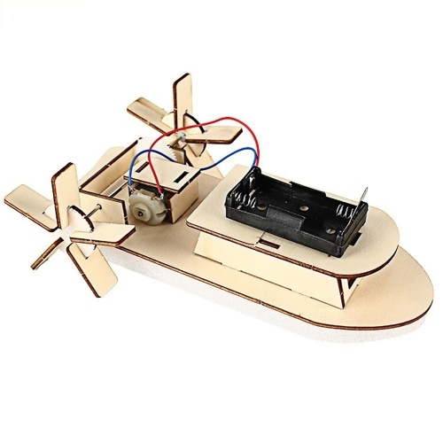 DIY Boot Modell Material Set Holzboot Baukasten 3D Montieren Holzpaddeldampfer Kreative Lehre Pädagogische Wissenschaft Experiment Spielzeug Geschenk für Jungen Mädchen Kinder Kinder und Erwachsene