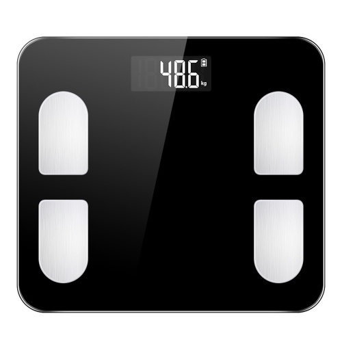 Smart Body Fat Scale 24 Body Indicators Wireless BT Digital Weighing Scale Body Analyzer Monitor Measuring Weight/Body Type/Body Age/BMI/Body Fat Rate/Skeletal Muscle/Bone Mass Black