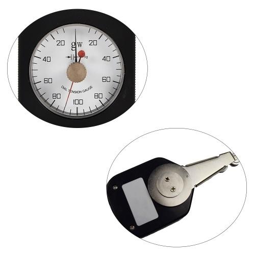 Textile Tension Meter Textile Tensiometer Double Needle Analog Dial Pressure Tensiometer Mechanical Force Measuring Tools Range 250-20-250