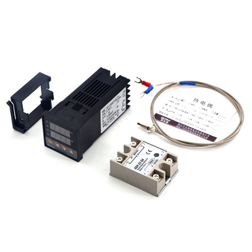 REX-C100FK02-V * DNインテリジェント温度コントローラーSSR出力+ SSR-25 DA + M6 1Mケーブル3個セット