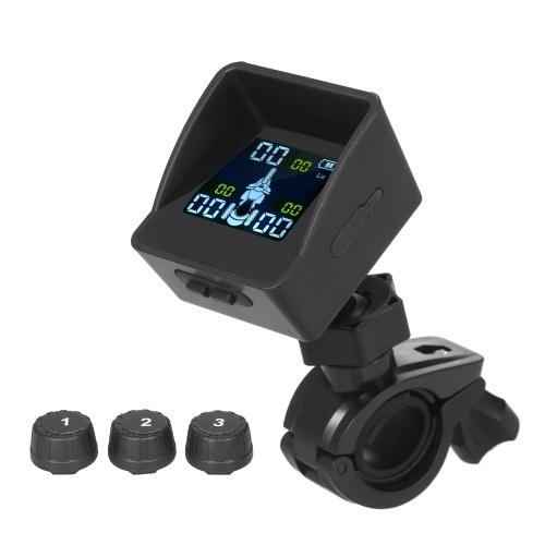 Reifendrucküberwachungssystem TPMS Wireless Smart Tire Monitor mit 3 externen Sensoren Sunshade Auto Tire Alarm für Dreirad-Dreirad