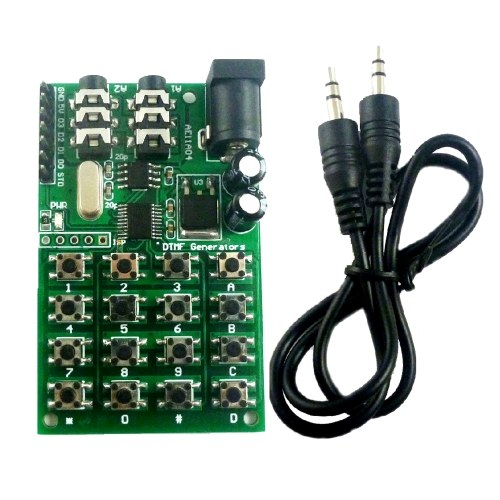 DTMF Module 5-24VDC Audio Generator Module Voice Dual Encoder Transmitters Board Keyboard for MT8870/CE004/CE005/CE023/AD22B04/AD22A08