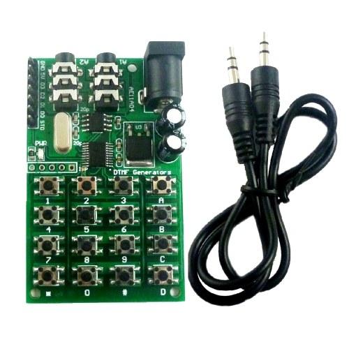 Module DTMF 5-24VDC Module générateur Audio voix double encodeur émetteurs carte clavier pour MT8870 / CE004 / CE005 / CE023 / AD22B04 / AD22A08
