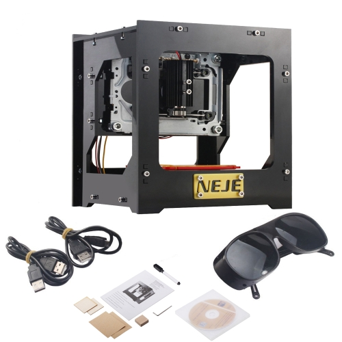 NEJE DK-8-KZ 1000 mW High Speed ​​Mini USB grawer laserowy Carver Automatic DIY Print Grawerowanie Carving Machine Off-line Operacja z okularami ochronnymi