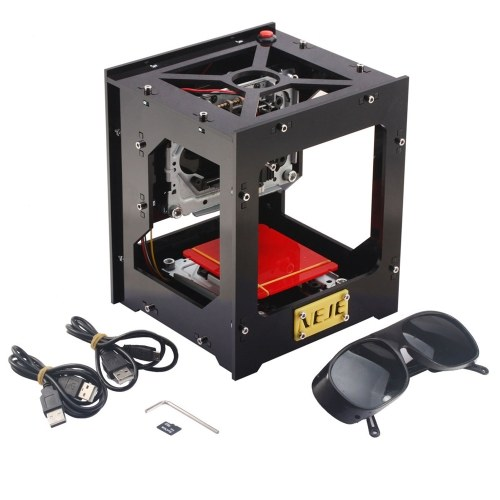 NEJE DK-8-KZ 1000mW High Speed Mini USB Laser Engraver Carver Automatic DIY Print Engraving Carving Machine Off-line Operation with Protective Glasses