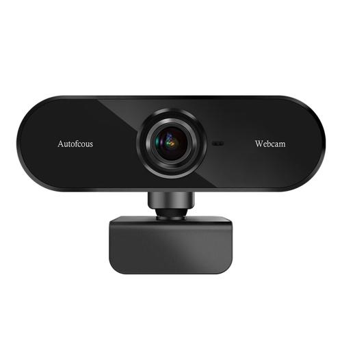 inskam02 USB Webcam 1080P Videocamera per computer ad alta definizione Autofocus Videocamera per conferenze con driver per microfono Videocamera gratuita Videocamera Clip-on per computer desktop portatile