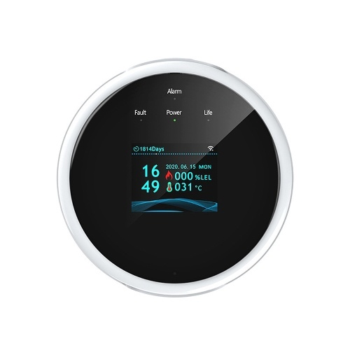 Tuya Wifi Natural Gas-Sensor Household Intelligent Combustible Gas-Alarm Detector Gas-Leakage Sensor Compatible with Amazon Alexa Google Assistant