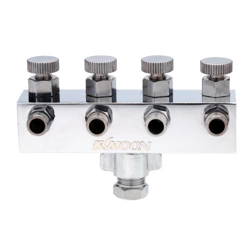 KKmoon 4-fach Airbrush Air Schlauch Splitter mit geregelten Dosier Mannigfaltigkeit für Airbrush-Pistolen 1/8