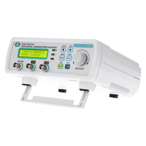 High Precision Digital Dual-channel DDS Function Signal Generator Arbitrary Waveform Frequency Meter 0-5MHz Power Signal Bandwidth 200MSa/s 6MHz