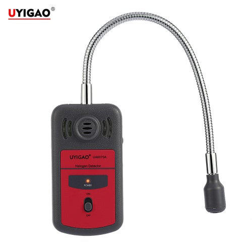 UYIGAO Brand New Handheld Portable Automotive Mini Halogen Gas Leakage Detector Chlorine and Fluorine Tester with Sound-light Alarm