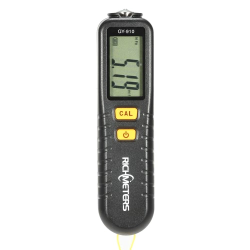 RICHMETERS GY910 Handheld Digital Coating Thickness Gauge Tester Fe/NFe Coatings LCD Display