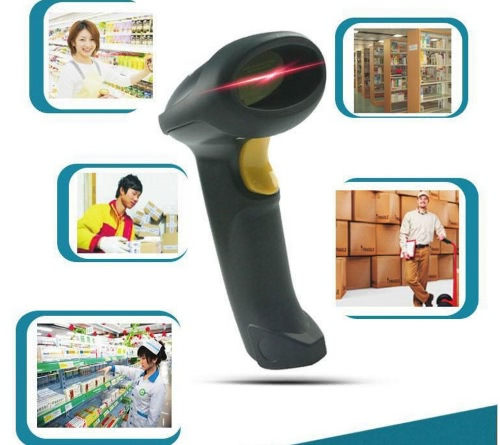 Wireless Barcode Scanner 2.4G 10m Laser Bar Code Scanner for Windows