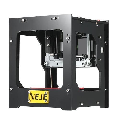 NEJE DK-8-FKZ Brand New 1500mW haute vitesse Mini USB Laser Gravure Carver Automatique DIY Print Gravure Machine de sculpture Traitement hors ligne avec des lunettes de protection