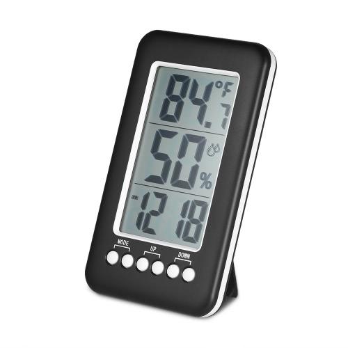 LCD ℃ / ℉ Wireless Indoor Digital Thermometer Hygrometer Uhr Temperatur Feuchtigkeit Meter Wecker