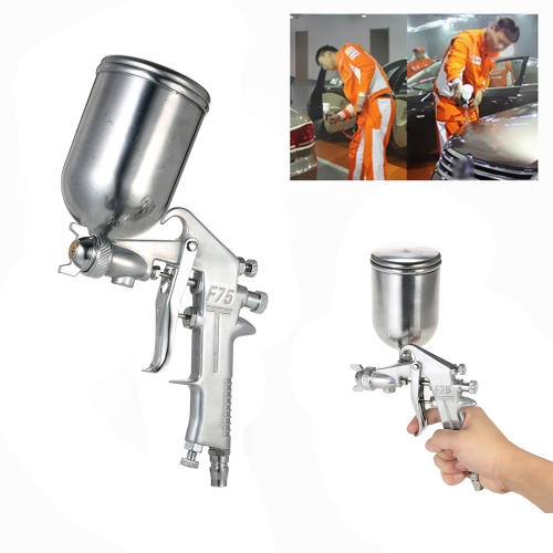 400ML Professional Gravity Feed Spray Gun Paint Sprayer Airbrush Set Stainless Steel 1.5mm Nozzle Auto Cars Painting for Spot Repa